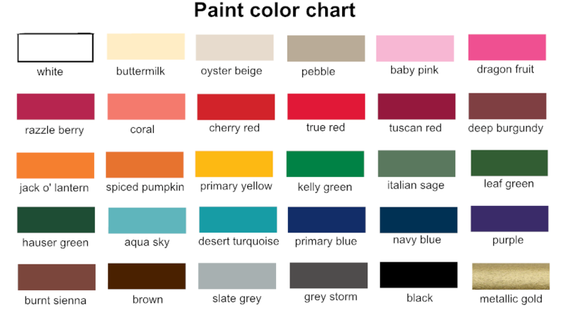 Color Chart Wood Love Signs