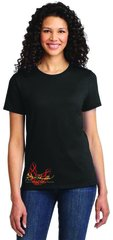 "Burt Reynolds Black Scoop Neck ""Firebird"" Shirt"