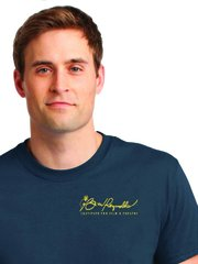 Burt Reynolds Institute Logo T-Shirt - Blue Dusk