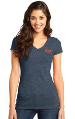 "Burt Reynolds Heather Navy V-Neck ""Firebird"" Shirt"