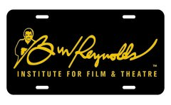 Burt Reynolds Institute Gold & Black Vanity Plate