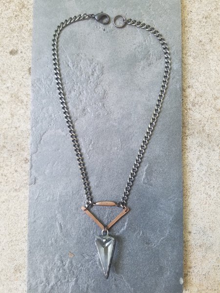 Crystal Dagger Necklace (Recycled Copper and Chandelier Crystal ...