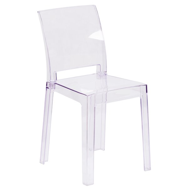 clear square back ghost chair kenwoodfurnishings com buy