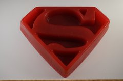 Faster than a cold shower...it's SoaperMan! XXXL SUPERMAN LOGO TROPHY SOAP