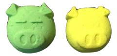 Piggy Face Bath Bombs. Have Fun While You Soak! One Lemon, One Lime.