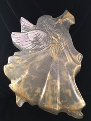 Beautiful ONE-OF-A-KIND Trophy Size Angel Soap in Glycerin, with cosmetic grade mica enhancements! Over 3 pounds, and 12 inches tall. Angelic proportions!