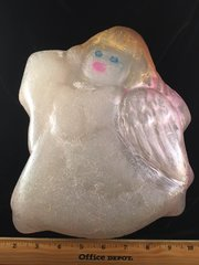 One-of-a-kind trophy size angel soap in glycerin. Weighs in at over four pounds! Almost 12 inches tall. Awesome gift for the angel in your life.