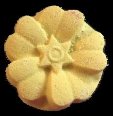Lemon Floral Bath Fizzer with Essential Oil and Dead Sea Salt