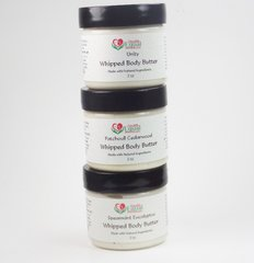 Whipped Body Butter Sample Pack Three 2 oz jars