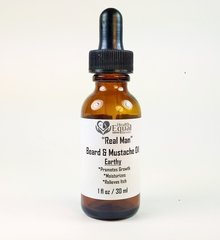 """Real Man"" Earthy Beard & Mustache Oil 1 oz"