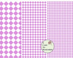 Digital download--Printable pink diamonds wafer paper file for cake decorating or cupcake decorating