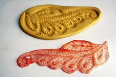 SLIGHTLY IMPERFECT-- Leaf lace mold for cake decorating, chocolate polymer clay , resin, silicone mould, cake lace mold