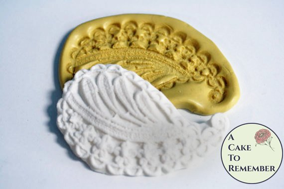 Leaf and flowers paisley silicone mold for cake decorating. Cake supplies and cake molds. Silicone mould for cakes. M077