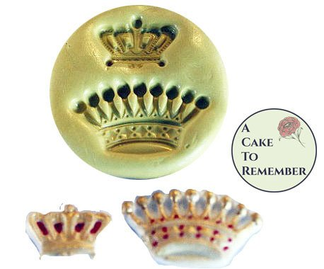 Crowns silicone mold set for fondant. Two sizes for cake decorating or cupcake decorating