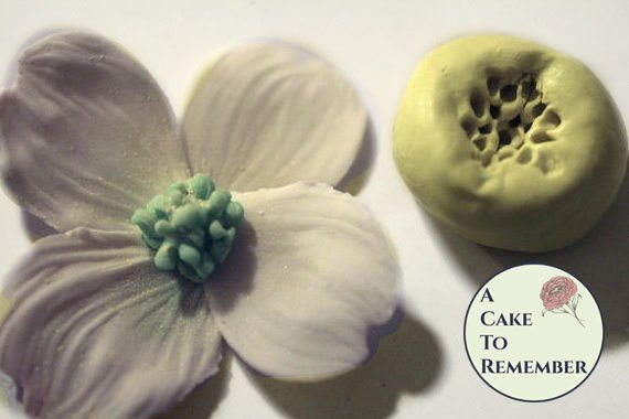 Silicone Mold for small dogwood/flower center- cake or cupcake decorating
