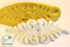 Silicone lace medallion Mold for cake decorating cupcake decorating, chocolate, polymer clay, resin, silicone mould, flower lace mold.  M061