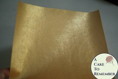 Three sheets printed gold wafer paper, edible wafer paper for cake decorating.