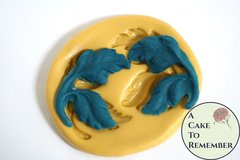 Silicone leaves mold, set of two mirror images, fondant or gumpaste mold. Silicone mold for polymer clay, resin, UTEE, and isomalt. M5104