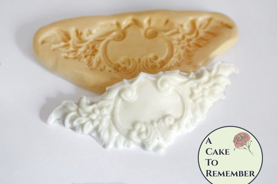 Small floral swag mold for cake decorating, polymer clay. Cake supplies and cake silicone molds for DIY wedding cakes. M5033