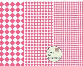 Digital download--Printable red diamonds wafer paper file for cake decorating or cupcake decorating