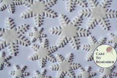 Gumpaste snowflakes for cake decorating