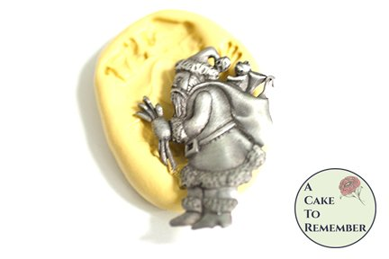 Father Christmas or Santa Claus silicone mold M5145