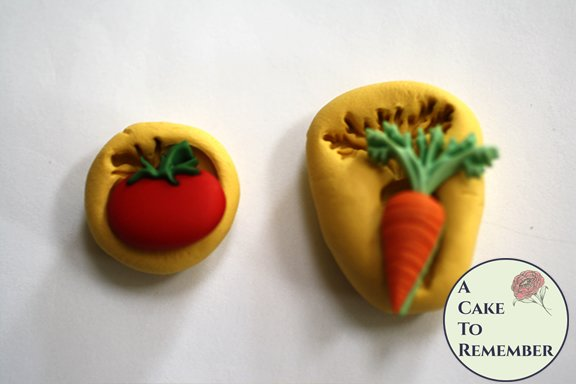 Little tomato and carrot food safe silicone mold M5192