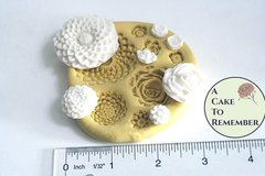 Silicone flower mold, Food safe for cake decorating, or polymer clay mold. Cake pops and cupcakes decorating