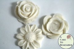 Cake flowers silicone mold set for cake pops and cupcake decorating. Fondant or gumpaste mold. Flowers mold for polymer clay or resin M5119
