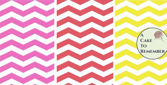 Set of Chevron Prints for wafer paper