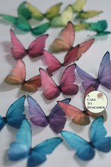 Edible butterflies, 12 wafer paper blue morpho butterflies wedding cake butterflies