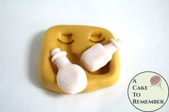 "Little bottles silicone mold for fondant, gumpaste, polymer clay, or resin mold. 1 1/2"" tall. Bottles mold for cake or cupcake toppers M5114"