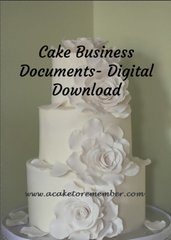 Documents for cake businesses- Digital download