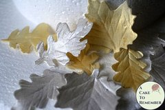 Gumpaste Silver and Gold Leaves for cake decorating and DIY wedding cakes