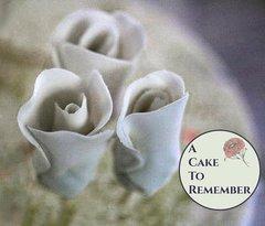 Gumpaste rose bud, sugar rosebud for cake decorating