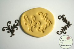 Vining leaves scrollwork mold for cake decorating or cupcake decorating M5010