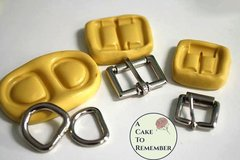 Buckle set, silicone molds for cake decorating, chocolate, hard candy, polymer clay, resin, wax, soap, silicone mould
