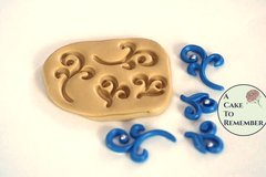 Silicone scroll mold for cake decorating, cupcake decorating, chocolate, polymer clay, gumpaste mold, resin, silicone mould