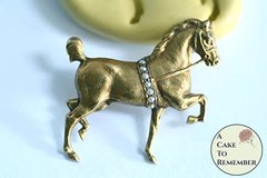 Tiny horse silicone mold for cake decorating. M5206