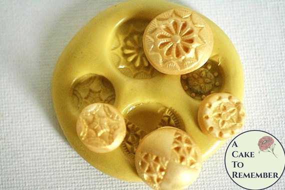 Silicone Buttons Mold for cake decorating, chocolate, hard candy, polymer clay, resin mold. M26