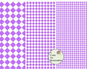 Digital download--Printable purple diamonds wafer paper file for cake decorating or cupcake decorating