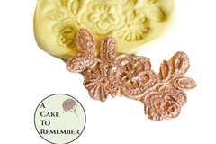 Small floral lace mold for cake decorating, chocolate mold, polymer clay mold, resin, silicone lace mold, silicone mould, cake lace mold. M078