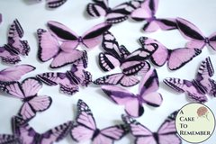 20 pink edible butterflies for cupcake toppers