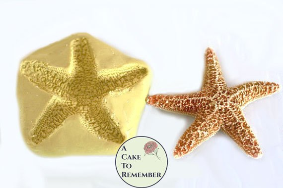 "3"" Silicone starfish mold for cake decorating or melt and pour soap making"