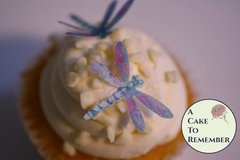 """24 detailed edible dragonflies, 1 1/4"""" dragonflies for cake decorating, cupcakes, cookie decorating, cake toppers. Wafer paper dragonflies"""