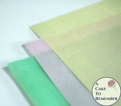 4 sheets (choose one color) of colored printed wafer paper for cake decorating and waferpaper flowers, cupcake decorating, vegan cakes