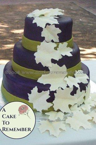 Gumpaste leaves for wedding cake, DIY wedding cake decorations