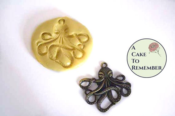 Octopus mold for cake decorating, cupcake decorating or polymer clay  M2000