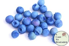 25 Gumpaste blueberries for cake decorating or cupcake decorating -unwired gumpaste berries, cupcake decorating, cake supplies