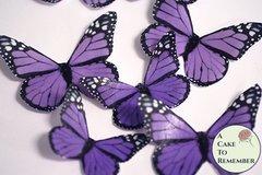 12 purple edible wafer paper monarch edible butterflies